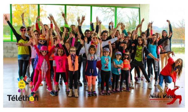 Tournage Flashmob Téléthon de Pouilloux 2015