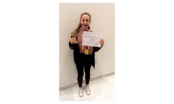 Vanessa 1er prix accès national avec félicitation du jury catégorie 2 PAA Jazz