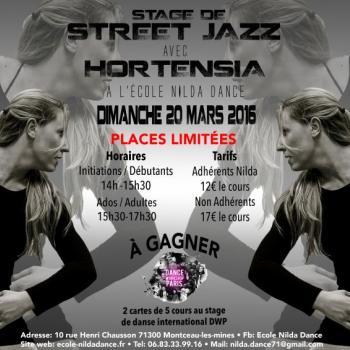 Centre de danse Nilda Dance stage de street jazz
